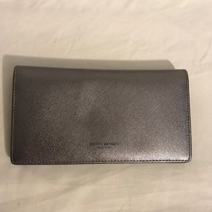 Henri Bendel Metallic Silver Wallet